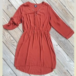 Brown Dress Beautiful Long Sleeves XL long Sleeve